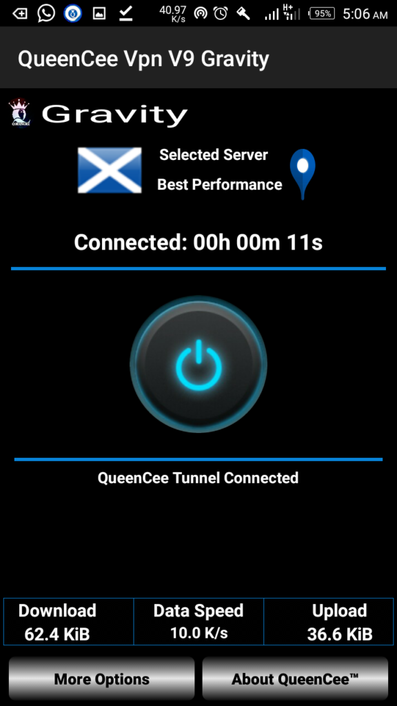 Download Latest QueenCee VPN V9 Gravity APK