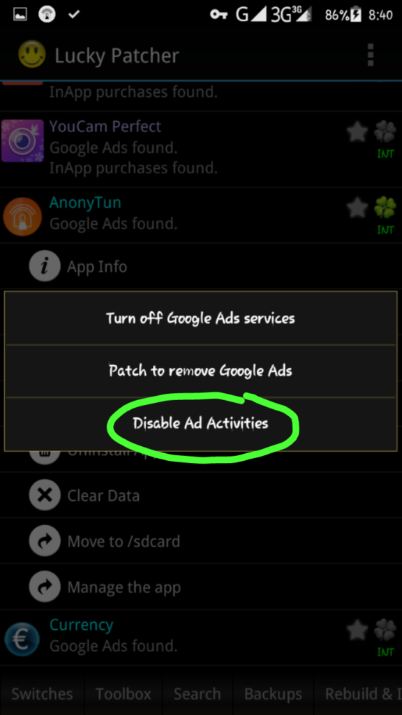 How to block Pop up Ads (advertisements) on Android Applications