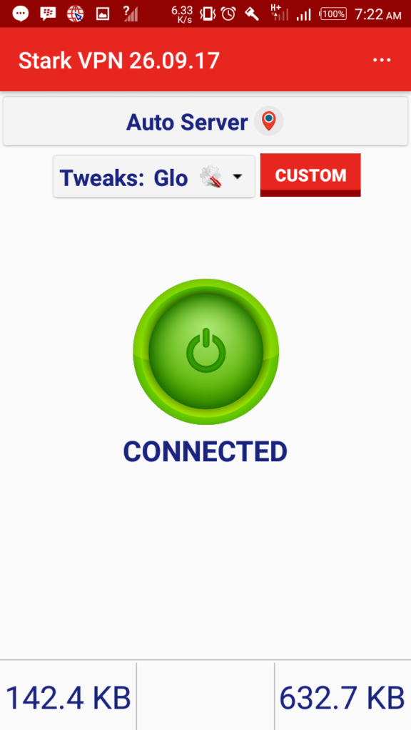 Glo Unlimited Free Browsing Now Blazing With Stark VPN V4.4
