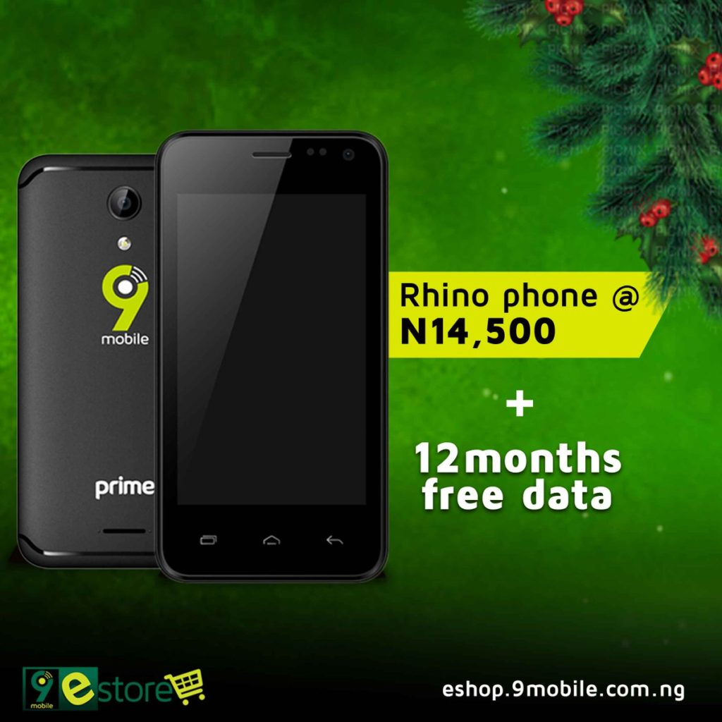 Buy Rhino 2 and enjoy 12 months of FREE data from 9Mobile