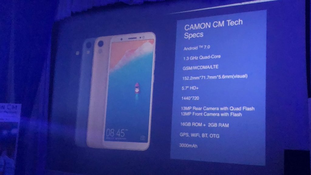 Tecno Mobile unveils Camon CM with 18:9 full display