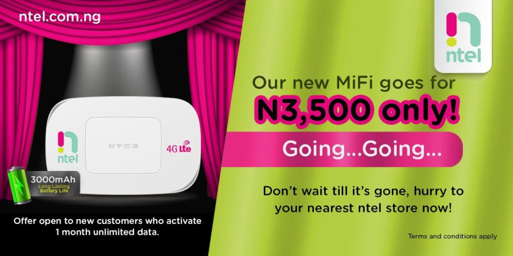See How To Buy Ntel Notion MiFi For Just N3,500