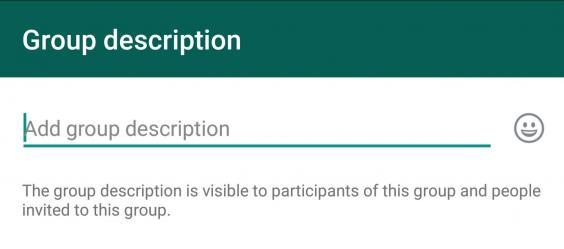 WhatsApp Group Description