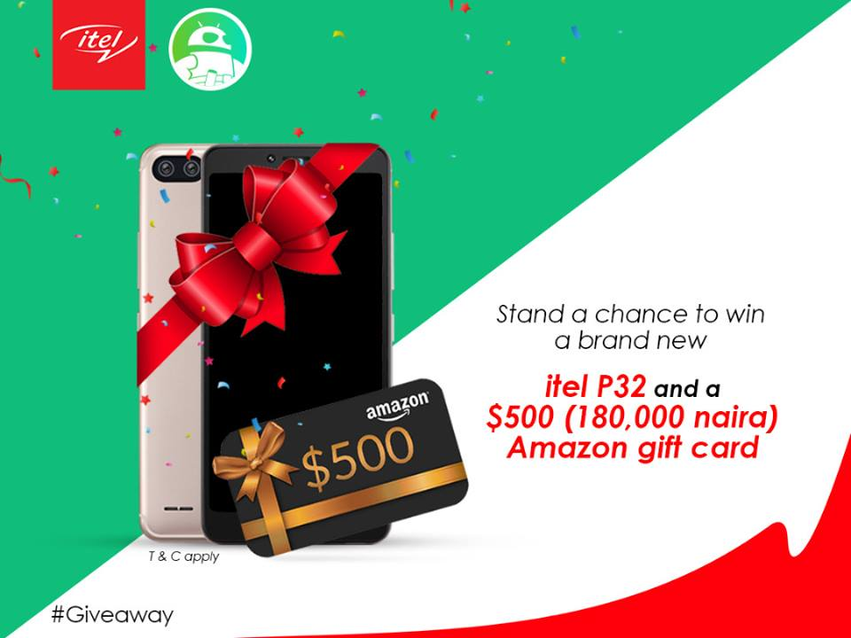 Itel Mobile and Android Authority to give out itel P32 and 180,000 naira, see how to win it